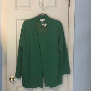 2 pc sweater set,  cold water Creek,  1x
